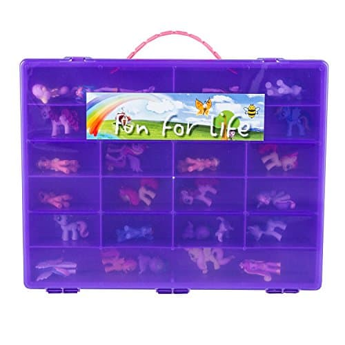 My Little Pony Compatible Organizer Purple/Grape fits approx 80 My Little Ponies