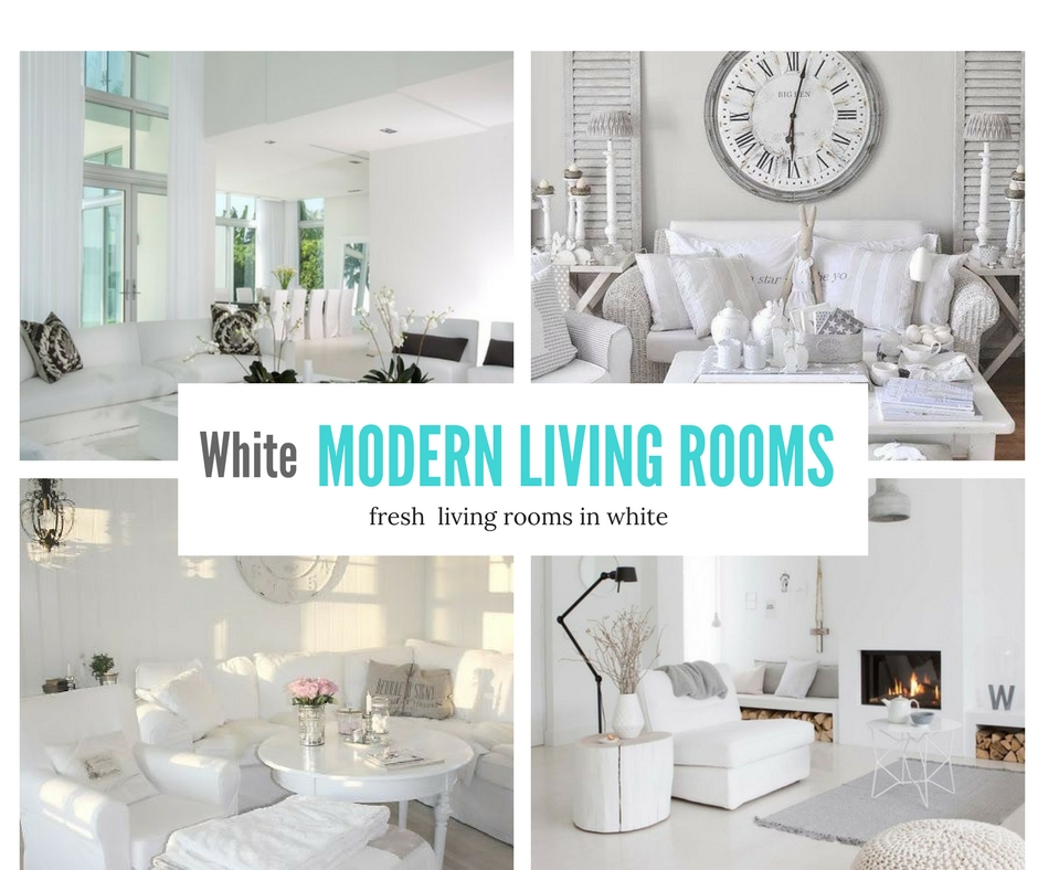 White Modern Living Room- Fresh Living Rooms in White