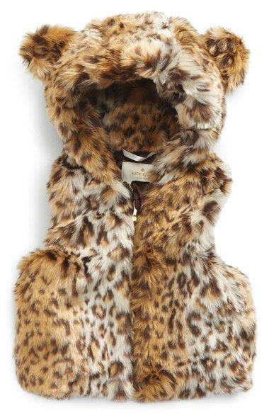 Animal Print Baby Girl Clothes - This adorable print sleeveless jacket with hood.