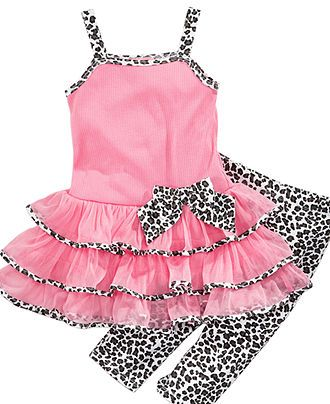 Super cute! Animal Print baby Girl Clothes, Your Baby will be rockin