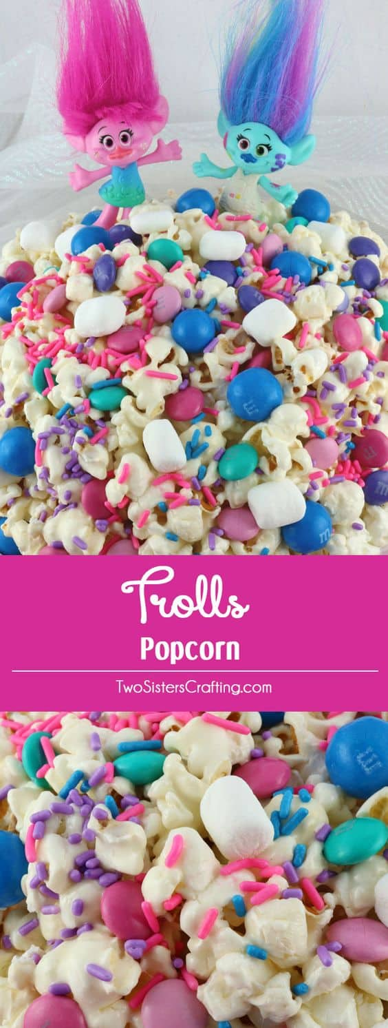 Troll popcorn party snacks for kids
