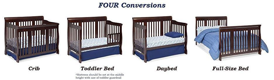 Best Baby Convertible Cribs February 2018 Converts To