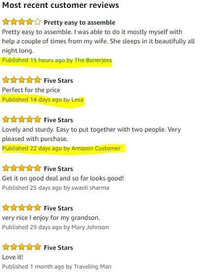reviews baby crib