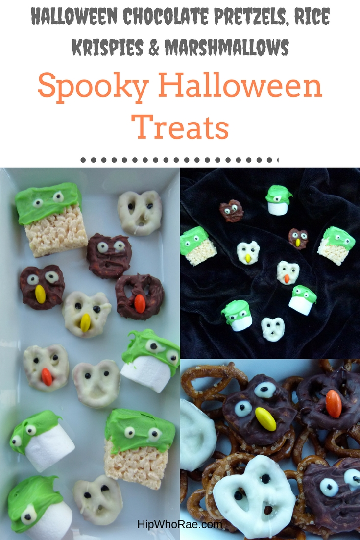 Spooky Halloween Treats- rice krispies