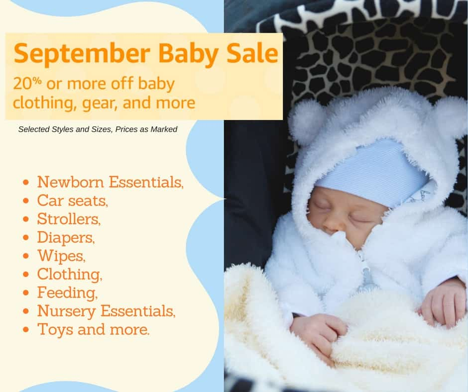Amazon Baby Sale September Only