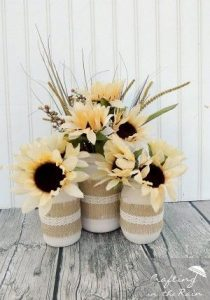 dollar store thanksgiving flower vases