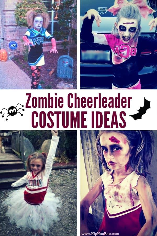 Zombie Cheerleader Halloween Costume For Girls.Zombie Cheerleader Costume Ideas Hip Hoo Rae