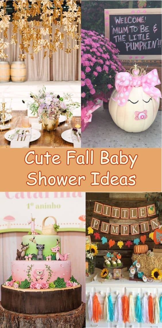 Fall Baby Shower, Cute ideas and themes for a fabulous fall baby shower