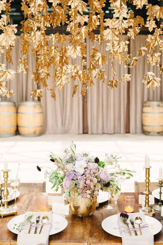 Fall Baby Shower Ideas- Those Golden Leaves are just stunning
