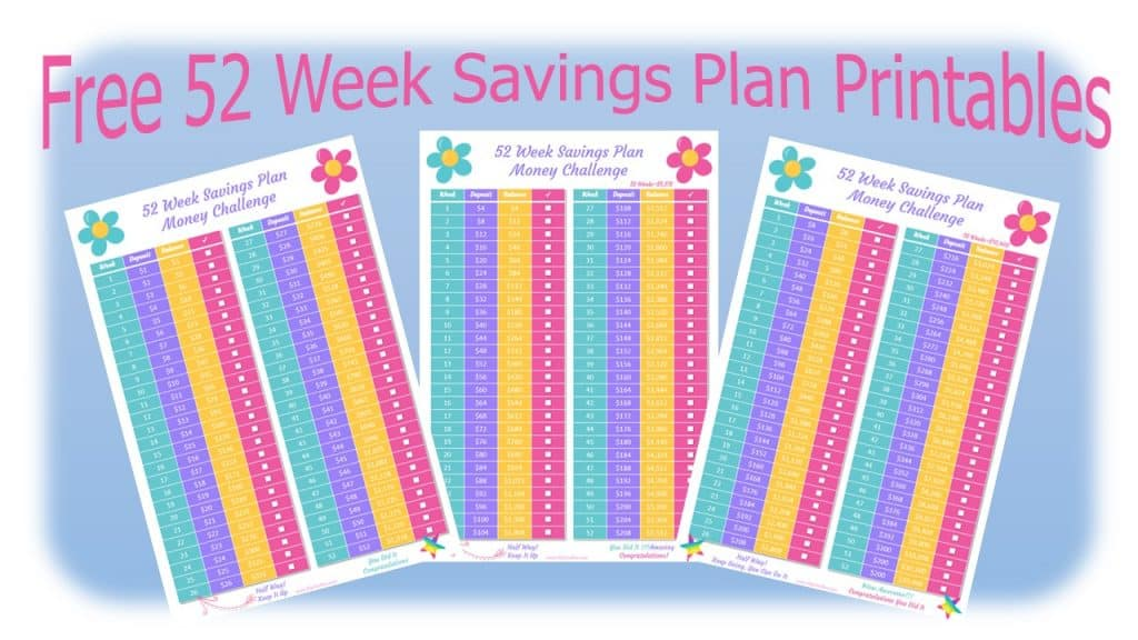 image relating to 52 Week Savings Plan Printable called 52 7 days Preserving Method Economical Trouble (Cost-free Printable) - Hip