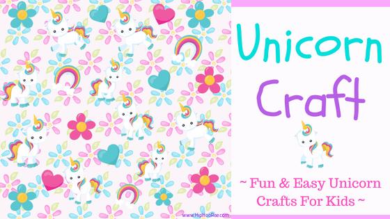 Unicorn Craft-Easy Unicorn Craft for kids, loads of fun making these Unicorn crafts with the whole family. DIY Unicorn craft