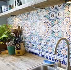 Moroccan Tiles very elegant and can be used in Bathroom or Kitchen. Love the colors
