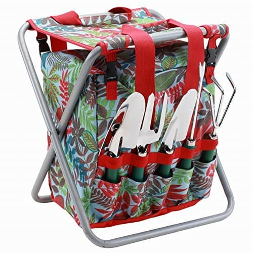floral tote and folding seat gardening set