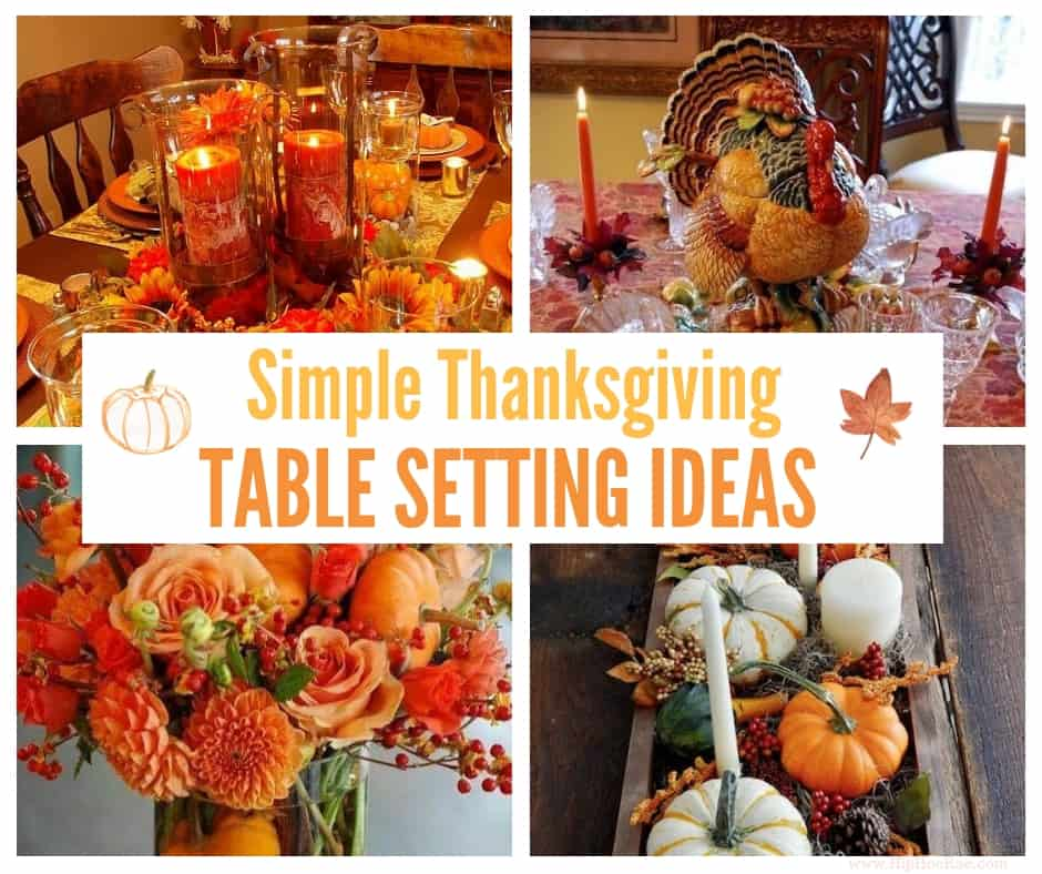 Simple Thanksgiving Table Setting Ideas Hip Hoo Rae