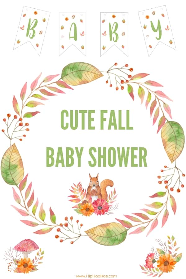 Cute Fall Baby Shower Ideas, balloon garland, printable games, Baby shower favors, Centerpieces, decorations