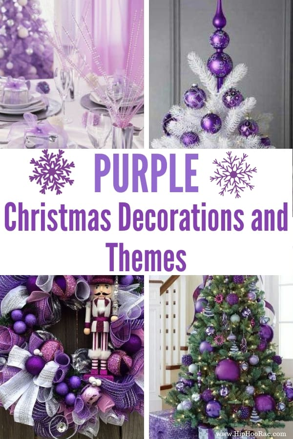 Purple Christmas Tree.Purple Christmas Decorations Hip Hoo Rae
