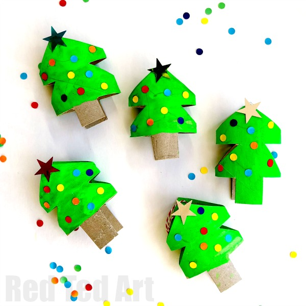 Christmas Crafts Made From Toilet Paper Rolls