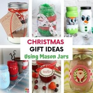 Christmas gift ideas using Mason Jars