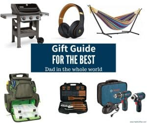 Gift Guide of pictures for what to buy dad
